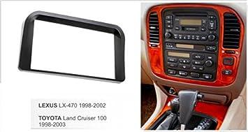 amazon com double din dash mount kit for lexus lx470 lx 470 1998 2002 toyota land cruiser 100 1998 2003 car electronics double din dash mount kit for lexus
