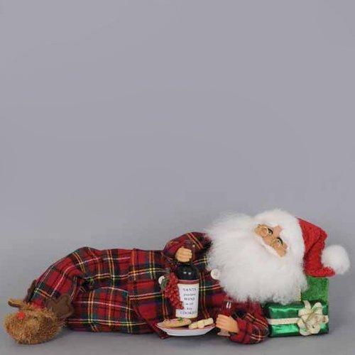 Karen Didion Wine Santa - Karen Didion Lying Wine Midnite Snack Santa