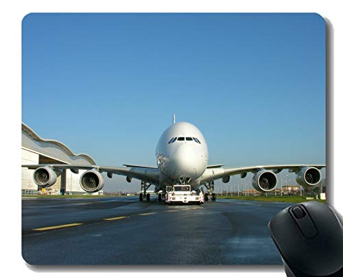 Office Desk Pad,Passenger Plane Airbus Airbus A380 Mouse Pad for Office Desktop or Gaming Mouse Mat ()