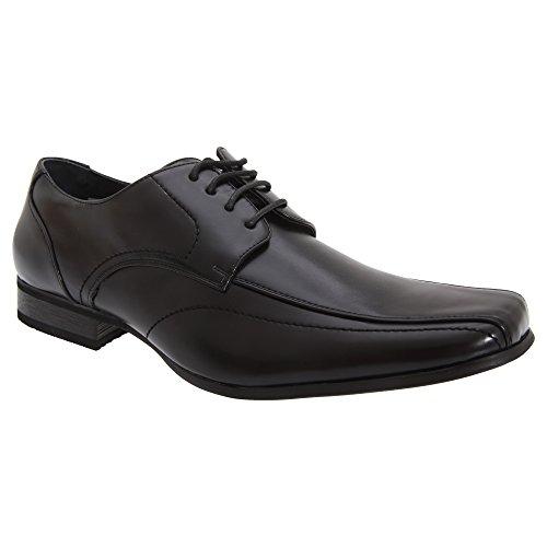 Goor - Zapatos lisos de vestir de piel con cordones Modelo Gibson Tramline Hombre Caballero - Vestir / Trabajo Negro