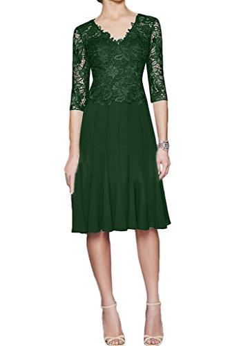 Festkleid Damen Aermel amp;Chiffon A Mutterkleid Elegant Halb Promkleid Abendkleid Grün Linie Ivydressing Spitze gtdxvqpvw