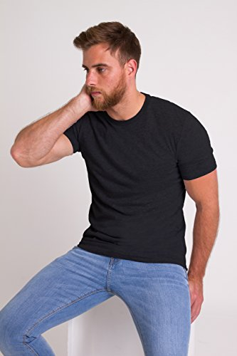 Plain shirt T London black Homme Pièce Crew 5 Neck Noir Fm ZxXtBqx