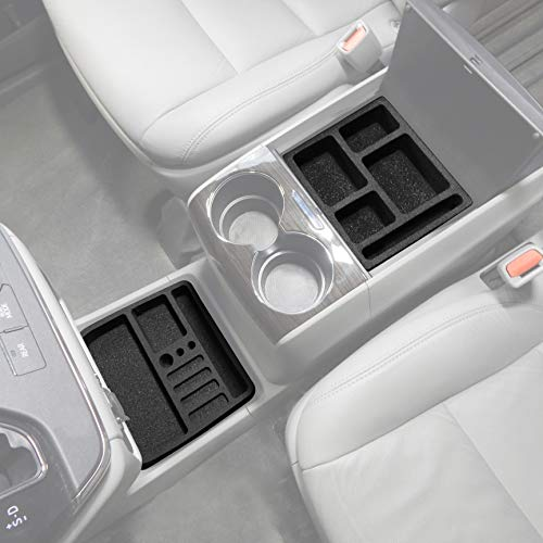 Red Hound Auto Full 4 Piece Vehicle Organizer Center Console Forward Tray Inserts Compatible with Toyota Sienna 2010 2011 2012 2013 2014 2015 2016 2017 2018 2019 Made in USA (Best Phone Carrier 2019)