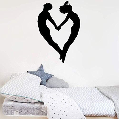 Removable Vinyl Decal Art Mural Home Decor Wall Stickers French Quote Portefeuille Aimant Formant Un Coeur Pour La Chambre Loving Wallet Forming A Heart for Bedroom