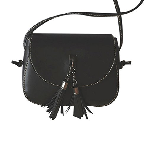 Casual Black Tote Purse Large Tassel Handbag 2017 Fashion Bag Black Shoulder Vovotrade® Girls Mini OqUWvC