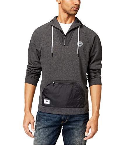 (LRG Mens Locale Half Zip Hoody Pullover Sweatshirts 2X-Large Black)