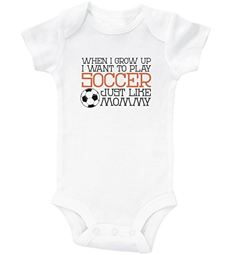 Funny Soccer Onesies / PLAY SOCCER LIKE MOMMY / Baby Bodysuit Outfit / Baffle