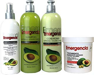 Toque Magico Emergencia Set 4 pack Avocado Shampoo , Rinse, Treatment, Leave-In ()