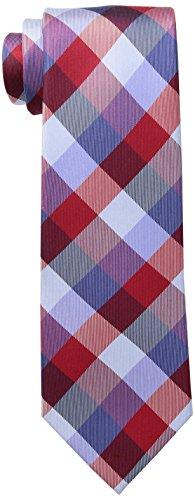 - Tommy Hilfiger Men's Buffalo Tartan Tie, Red, One Size