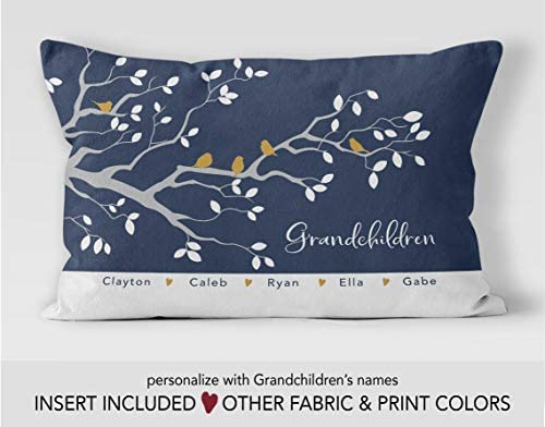 8a4e7572 Amazon.com: Penelope Grandma Gift Grandparent Gifts Custom Family Tree  Pillow Personalized Pillow Grandmother Gift Gifts for Grandma Grandchildren:  Home & ...