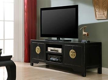 VENTE-UNIQUE- Meuble Tv Foshan - 4 portes & 2 niches - Bois d\'orme ...