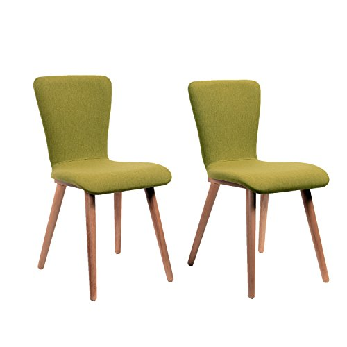 Midtown Concept Green Carly 2 Piece Living Room Dining Chair Set