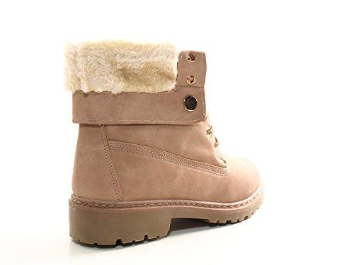 Damen Stiefel warm gefütterte Stiefeletten Boots Pink # 9120 +++ Stiefel fallen kleiner aus, bitte 1 Nr. grösser bestellen ! +++