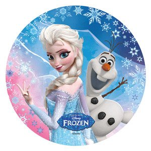 DISNEY FROZEN CAKE TOPPER 21 CM EDIBLE WAFER RICE PAPER I CUP