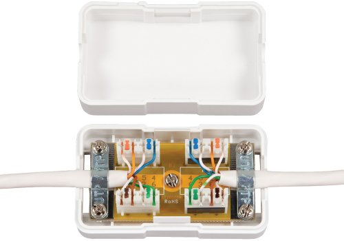 Cross Connect Patch Block Mounting (Allen Tel Products AT66CB-15 2 Ports, Double Sided Tape, Snap-On Cover Category 6 Connection Box, White)