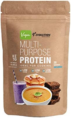 Evolution Advance Nutrition Unflavored Vegan and Keto Multi-Purpose Protein Powder, Ideal for Cooking Low Carb, Fat and Calories 1 Pound 454 Grams 20 Servings