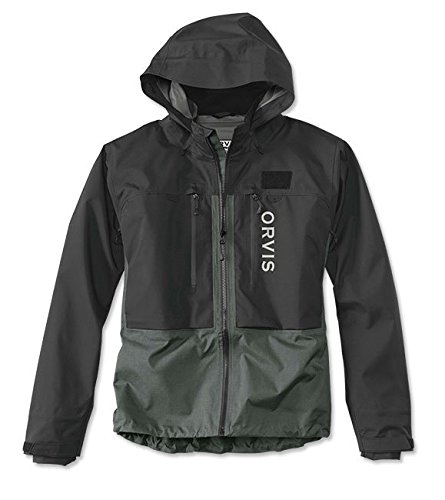 Orvis Men's Pro Wading Jacket, Black/Ash, Large ()