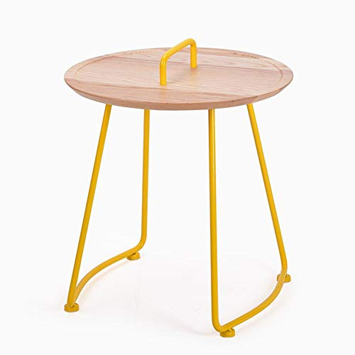 Hrfhlhy Table With Handles Wrought Iron Metal Side Balcony