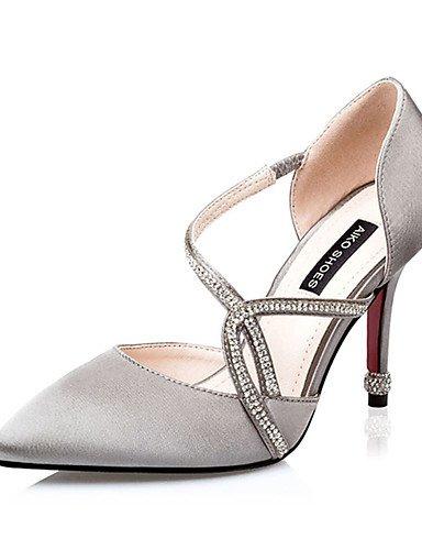 GGX/Damen Schuhe Seide Sommer Heels Heels Casual Stiletto Heel andere schwarz/pink/silber/grau/fuchsia pink-us6 / eu36 / uk4 / cn36