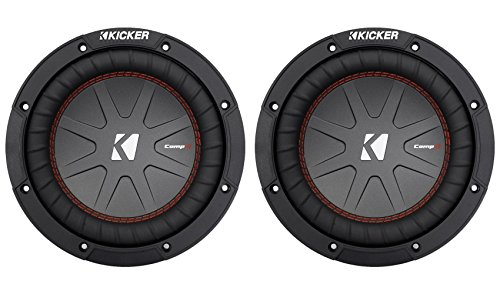 (2) Kicker 43CWR84 COMPR8 1200w 8″ 4-Ohm DVC Car Stereo Subwoofers Subs CWR8-4