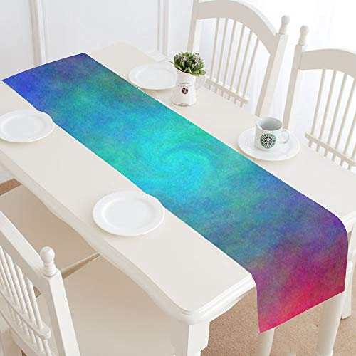 Color Abstract Hole Plasma Spiral Table Runner, Kitchen Dining Table Runner 16 X 72 Inch For Dinner Parties, Events, Decor by RYUIFI (Image #1)