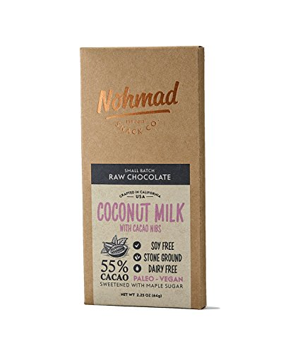 Nohmad Snack Co - Raw Chocolate - Coconut Milk w/Cacao Nibs - 55% Cacao - Vegan Friendly (2 pack) by Nohmad Snack Co