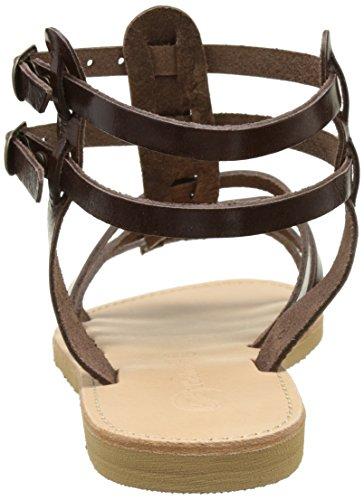 THELUTO Coralie - Sandalias de Gladiador Mujer marrón (marrón)