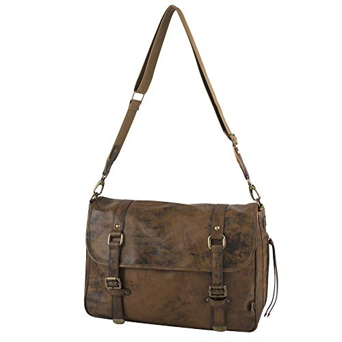 - OiOi Baby Diaper Bag + Messenger Bag for Men (The Perfect Dad Diaper Bag) - Jungle Leather