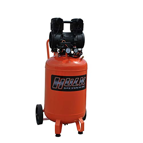 2 HP Quiet Portable Air Compressor, 125 PSI, 20 Gallon, HULK