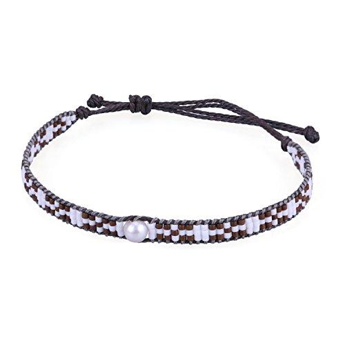 Pearl Beaded Wrap Bracelet - 8