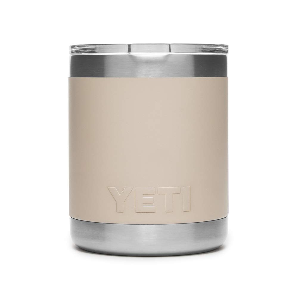 YETI Rambler 10 oz Vacuum Insulated Stainless Steel Lowball with Lid, Sand by YETI (Image #2)