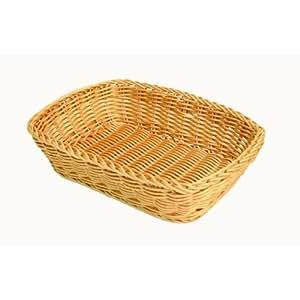 "12"" x 9"" Rectangular Bread & Roll Basket, Woven Polypropylene Basket, *Professional Quality*"