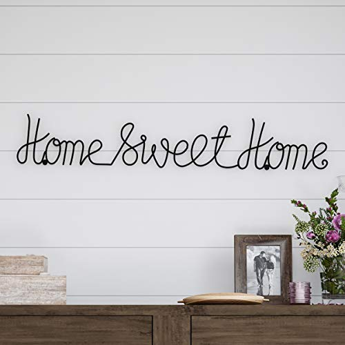 (Home Metal Sweet Cursive Cutout Sign-3D Word Art Accent Decor-Perfect for Modern Rustic or Vintage Farmhouse Style )