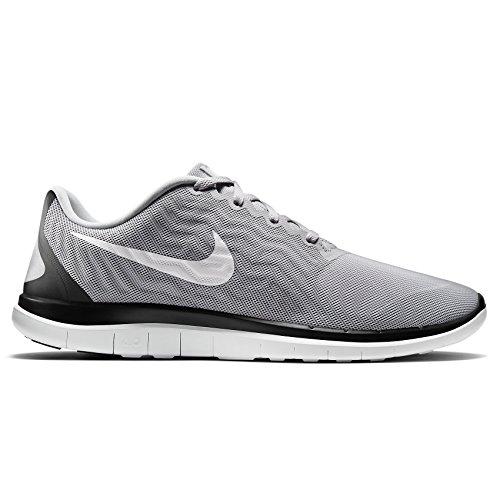 Nike Free 4.0 717988 010 Hommes Chaussures De Course Gris Loup / Blanc / Noir