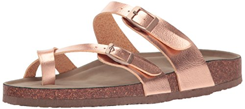 Gold Love Slide - Madden Girl Women's Bryceee Toe Ring Sandal, Rose Gold, 7.5 M US