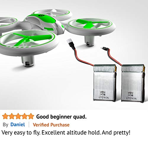 41ZUBIO5BVL - Mini Drones for Kids and Beginners – UFO 3000 LED RC Kid Drone, Remote Control Quadcopter Flying Toys for Boys or Girls w/Extra Stunt Drone Battery