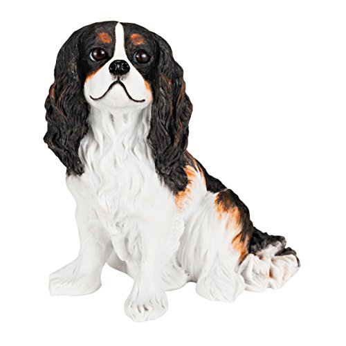 Cavalier King Charles Spaniel Solid Hand Painted Dog Statue 5.6