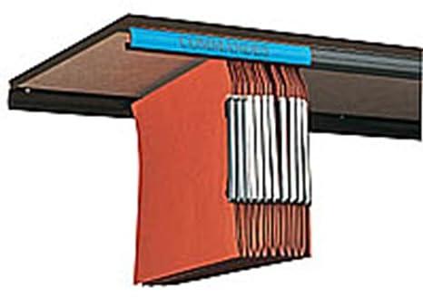 Juego de 2 rieles de plástico para archivadores colgantes, color negro: Amazon.es: Oficina y papelería