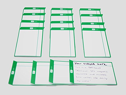 Scrum cards magnetic and reusable - set of 16 cards (Green)