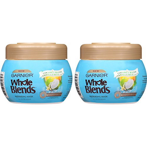 Garnier Hair Care Whole Blends Hydrating Hair Mask with Coconut Water & Vanilla Milk Extracts, 2 Count