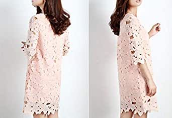 Straight Hook Flower Lace Dress