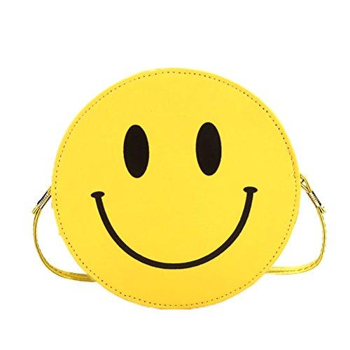 Donalworld Women Emoji Hard Case Crossbody Chain Shoulder Purse Handbag Pattern3