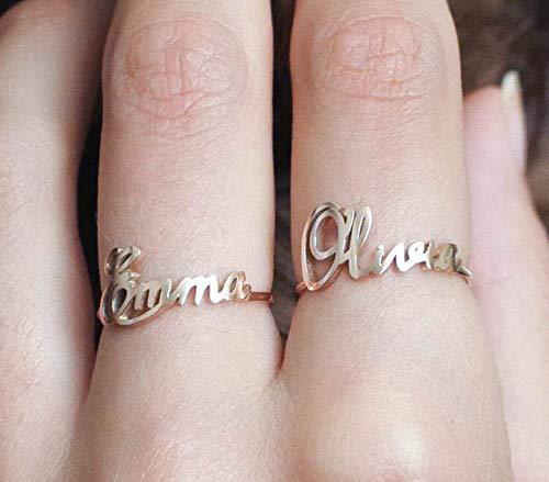 Custom Name Ring in 925 Sterling Silver Personalized Children Name Ring in Sterling Silver Custom Jewelry Gift for Her Grandma Gift Mom Gift