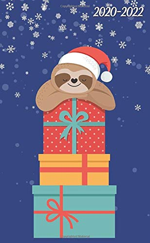 2020-2022 Christmas Trends 2020 2022: Lovely Christmas Sloth 3 Year Monthly Pocket Planner