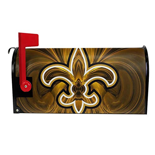 DLZXHomer Mailbox Cover New Orleans Saints Primary Letter Post Box Cover Wrap Magnetic Mailbox Wraps Standard Size Decoration Welcome Home Garden Outdoor (21 X 18 in, 25.5 X 21 in) W X L ()