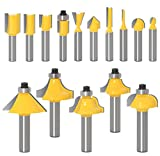 "15-Piece Router Bits Set 1/4"" Inch Shank Drill Bits"