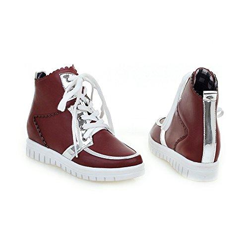Floral Platform Print Wine Fashion Shoes AIWEIYi Womens Sneakers Red Fashion wqIpgZEZx