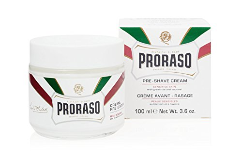 (Proraso Pre-Shave Cream, Sensitive Skin, 3.6 Oz)