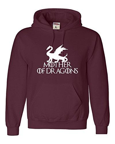 Large Maroon Adult Mother of Dragons Sweatshirt - Of Game Hoodie Thrones