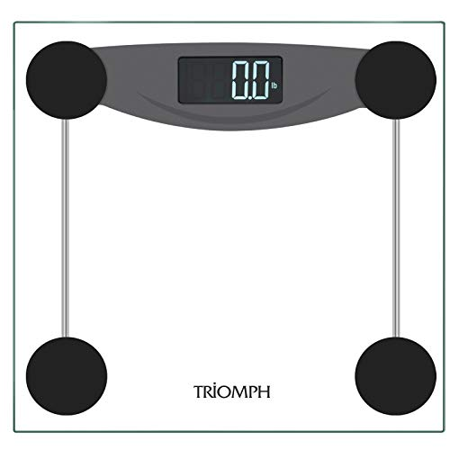 - Triomph Smart Digital Body Weight Bathroom Scale with Step-On Technology, LCD Backlit Display, 400 lbs Capacity and Accurate Weight Measurements, Black (Digital Scale New)